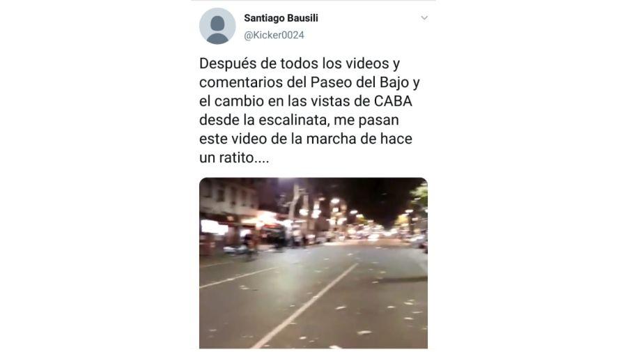 El tuit que el secretaria de Finanzas, Santiago Bausili, borró de sus redes sociales.