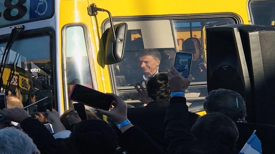 Mauricio Macri inauguración Metrobus Quilmes.