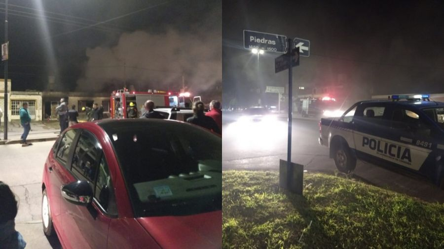 Incendio en Villa María.