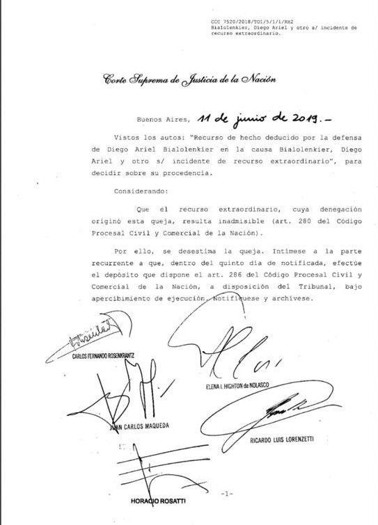 Corte Suprema Debora Perez Volpin
