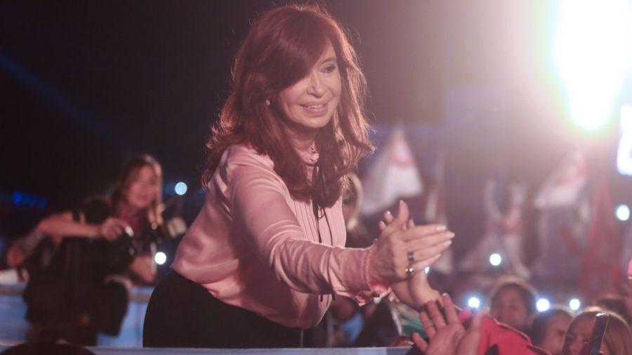 Cristina Kirchner tras la presentación de su libro en Santiago del Estero.