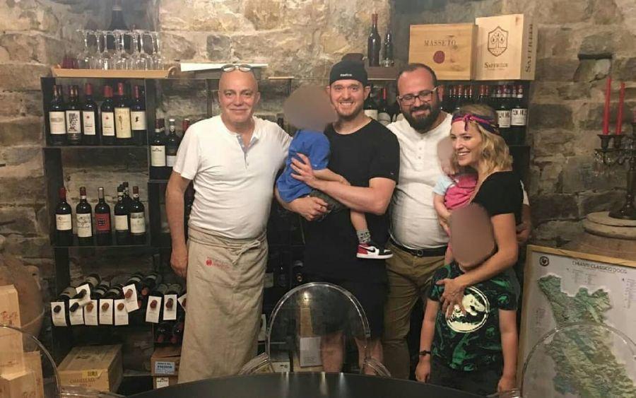 Lopilato y Bublé, en Italia.
