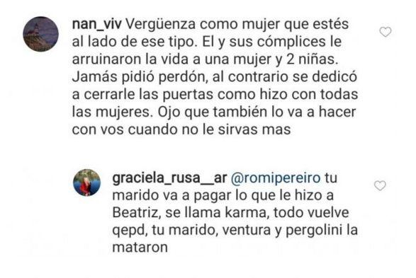Romina Pereiro fue blanco de críticas por Jorge Rial tras la muerte de Beatriz Salomón