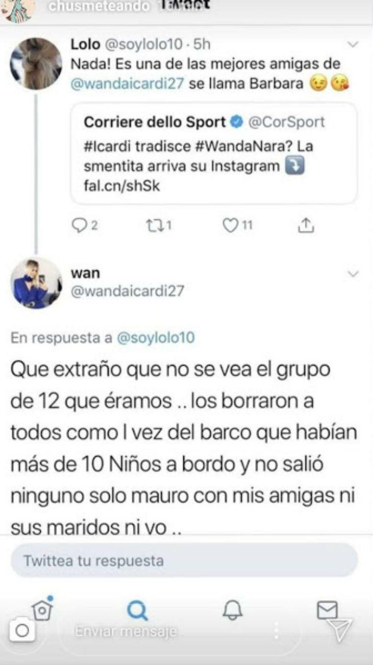 La reaccion de Wanda Nara tras los rumores de infidelidad de Mauro Icardi