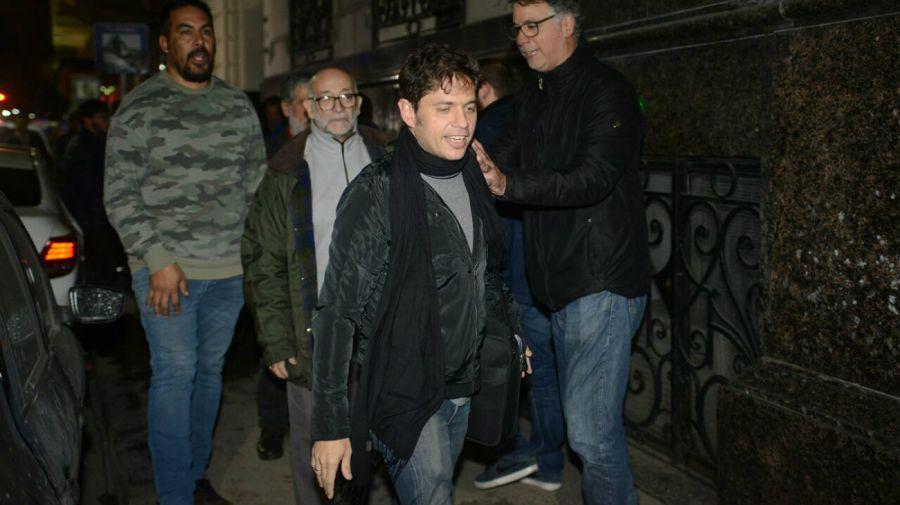 Axel Kicillof, en su ingreso a las negociaciones con Alberto Fernández.