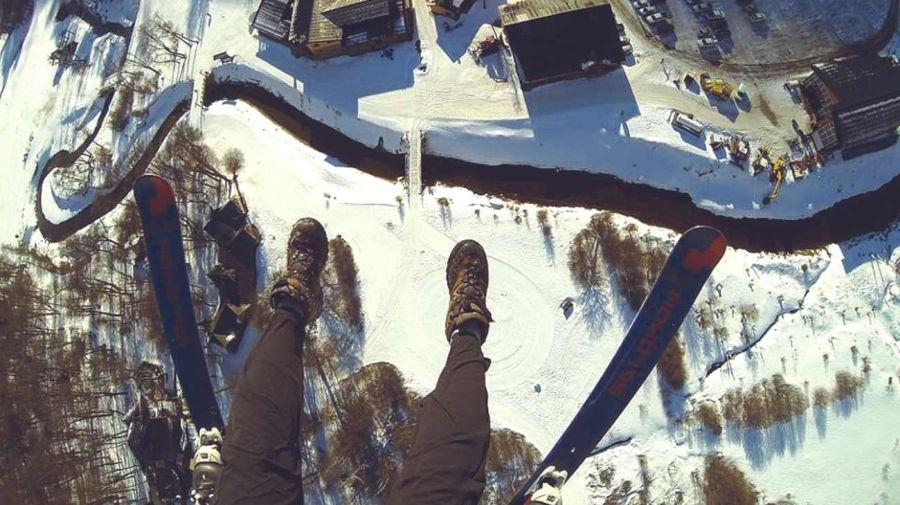 0624 parapente en la nieve