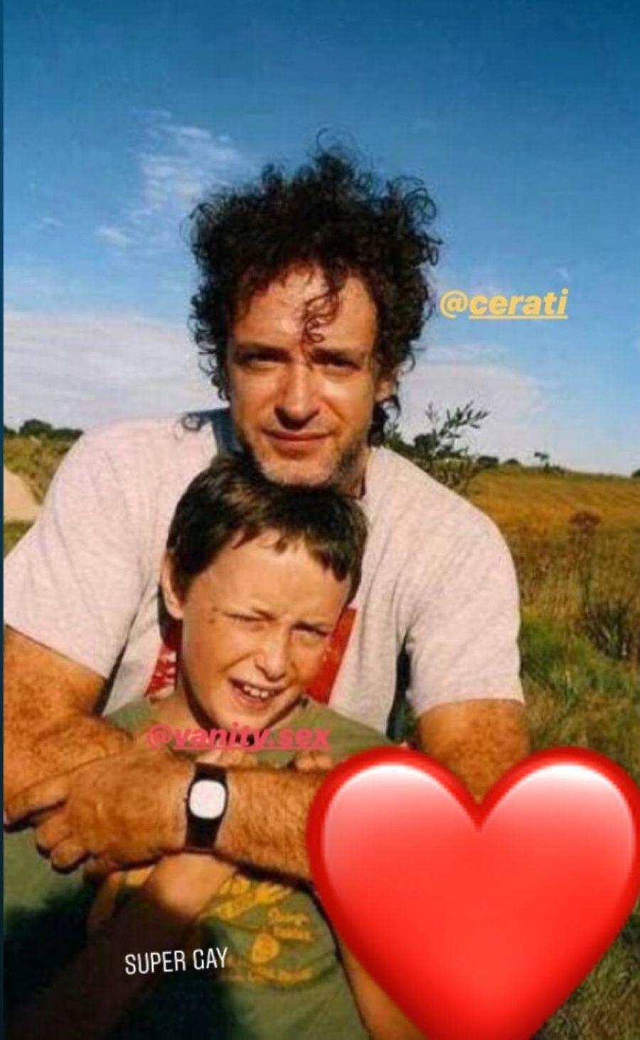 La foto con la que Benito Cerati homenajeó a su padre, Gustavo
