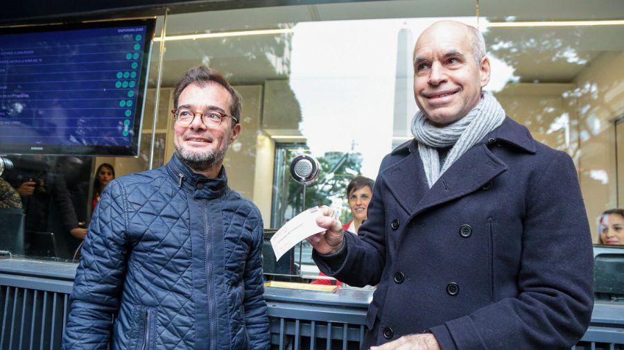 Rodríguez Larreta y Avogadro inauguraron el nuevo Tickets.