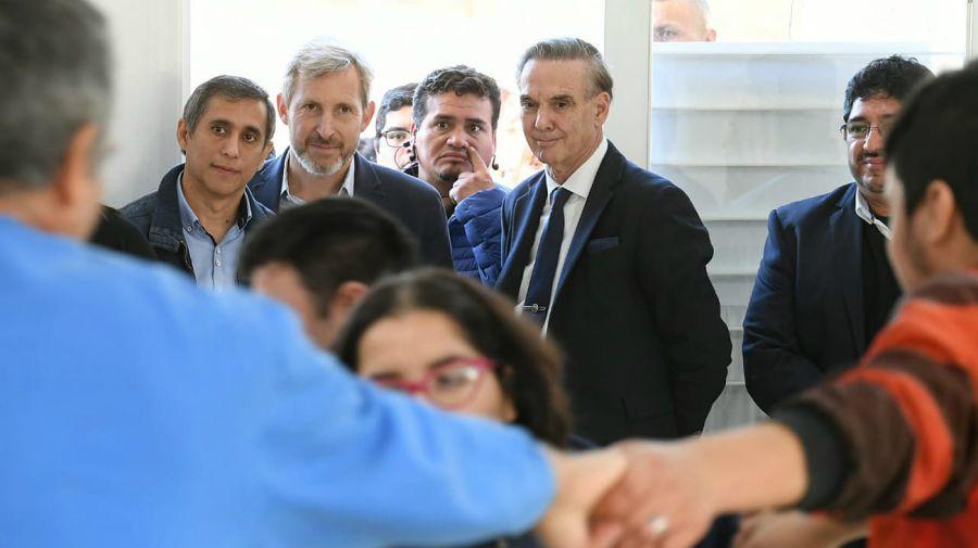 Miguel Ángel Pichetto y Rogelio Frigerio de campaña.