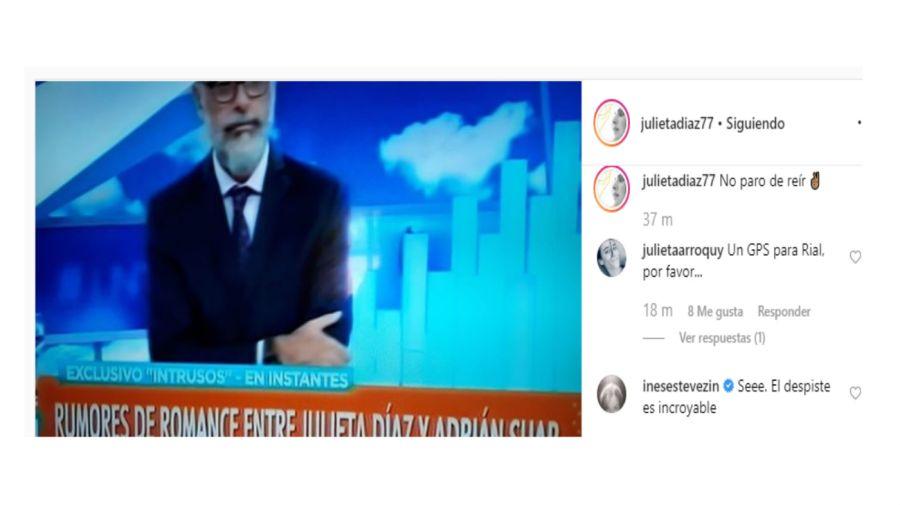 La publicación de Julieta Díaz y el comentario de Inés Estévez