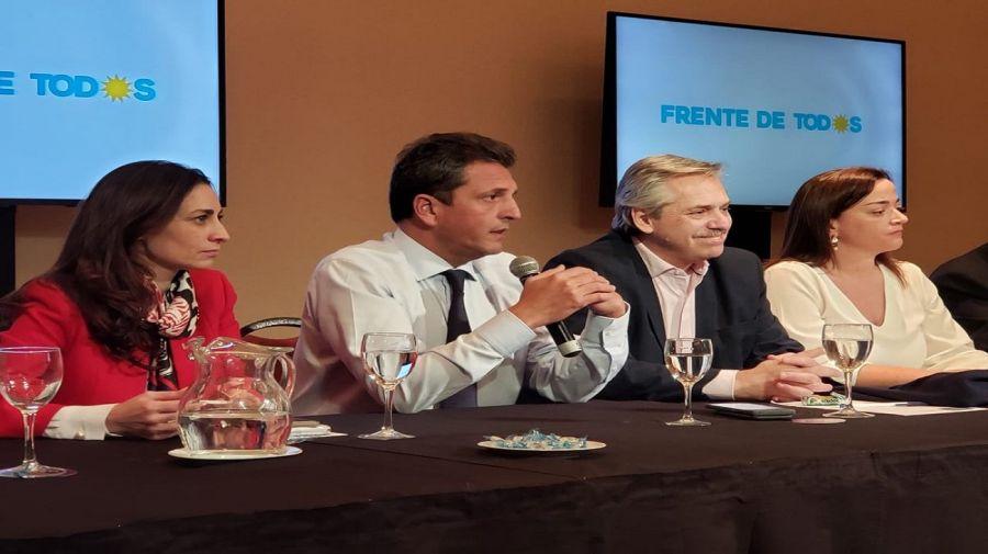 Reunión de Alberto Fernández y Sergio Massa.