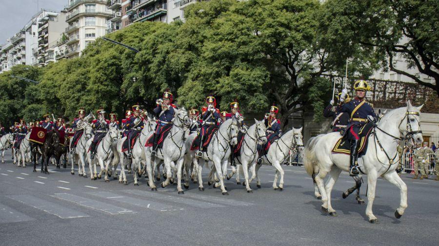 Desfile militar del 9 de Julio.