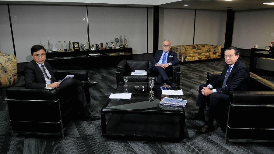 Los ministros Faurie y Sica, en la editorial Perfil.