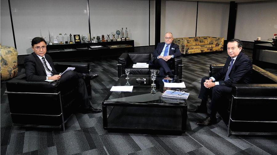 Jorge Faurie y Dante Sica, en la entrevista con Jorge Fontevecchia.