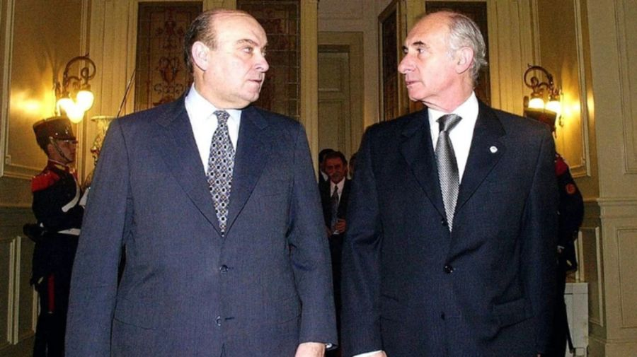 Domingo Felipe Cavallo y Fernando de la Rua.