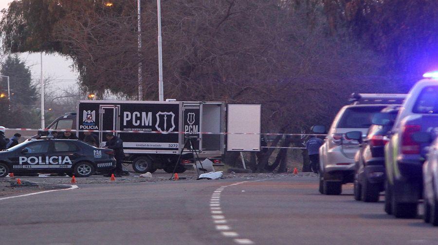 Accidente en la intersección de Acceso Sur y calle Alsina, Mendoza.
