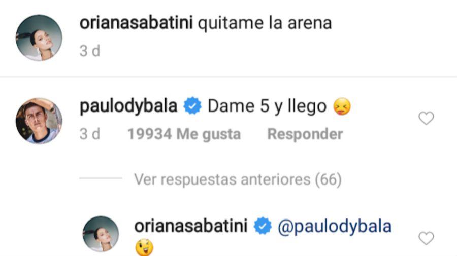 El pícaro comentario de Paulo Dybala a Oriana Sabatini