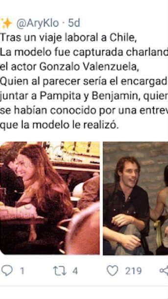 Revelan las supuesta infidelidades de Benjamín Vicuña a Pampita