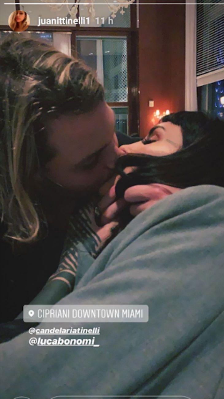 Cande Tinelli confirmó su reconciliación con Luca Bonomi con una romántica foto