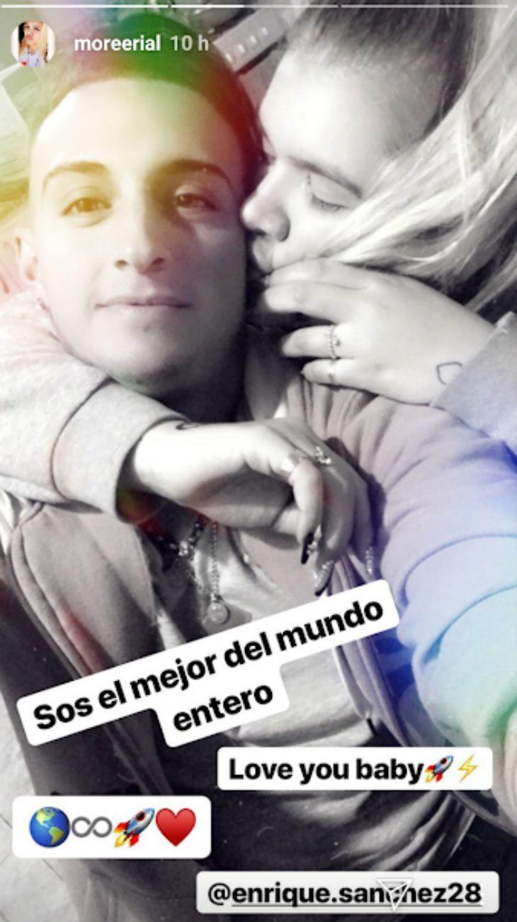 La foto de Morena Rial a los besos con Enrique Sánchez