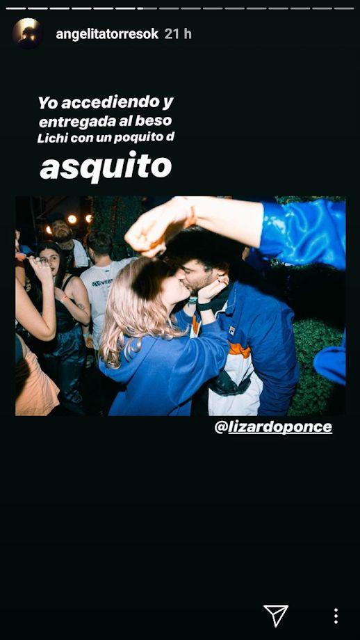 Ángela Torres le dio un beso a un periodista que se hizo viral