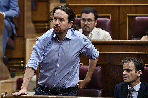 Pablo Iglesias durante el debate de investidura