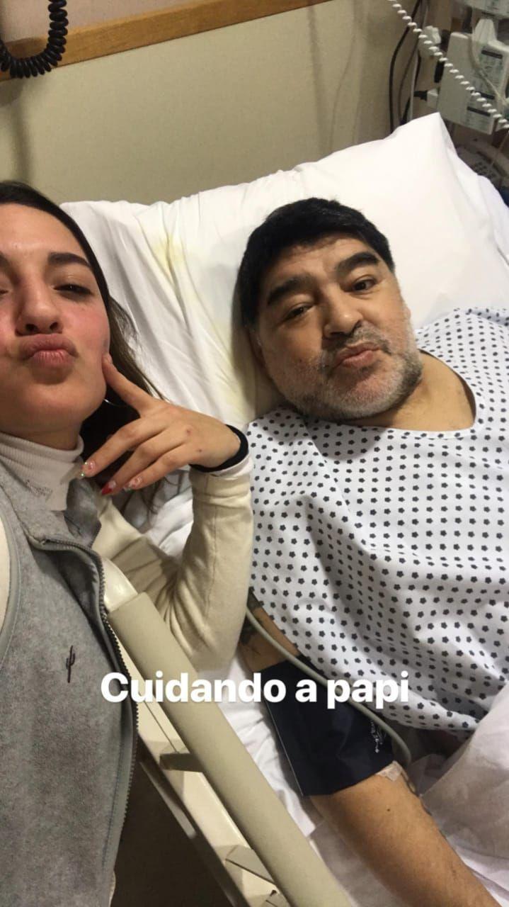 Jana visitó a Diego Maradona tras su operación