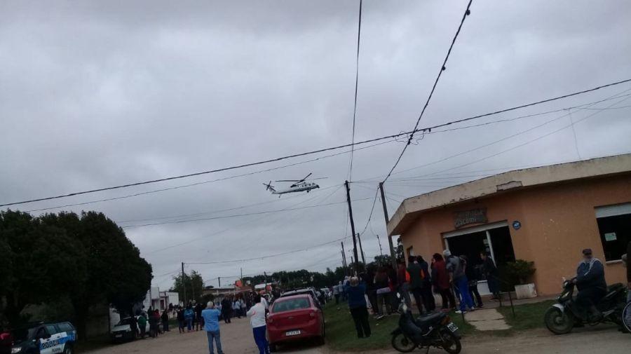 Macri peluquero helicoptero