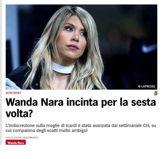 Wanda Nara estaría embarazada