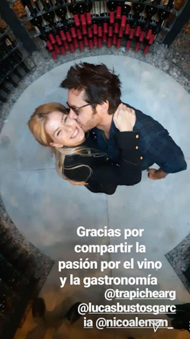 Benjamín Vicuña compartió una romántica foto con la China Suárez en Mendoza