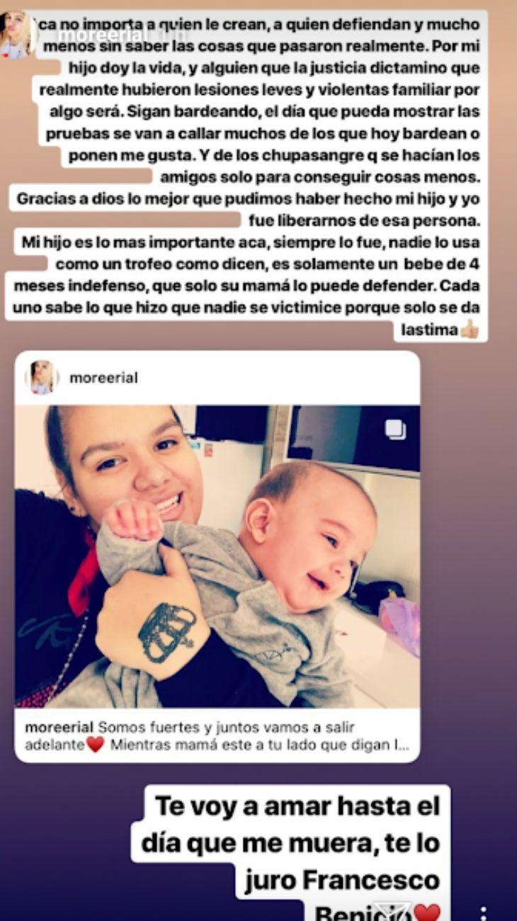 el descargo de Morena Rial