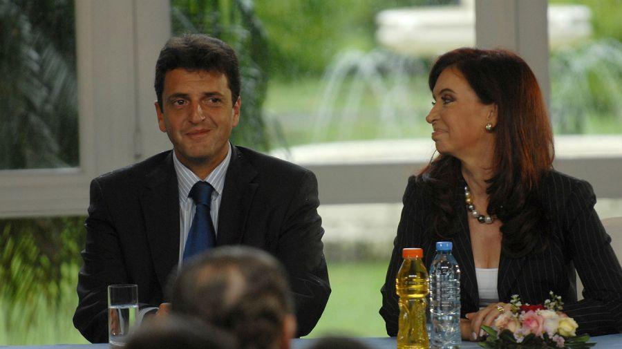 Archivo. Cristina y Massa: este sábado volverán a mostrarse juntos.