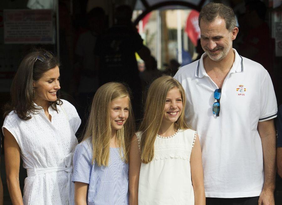 Los Reyes de España y sus hijas de vacaciones en Mallorca