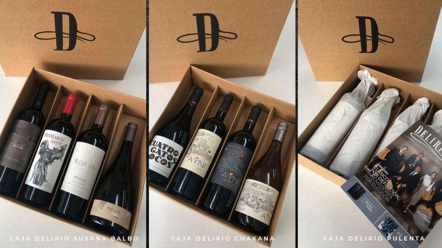 CAJAS DELIRIO, con vinos top de las mejores bodegas