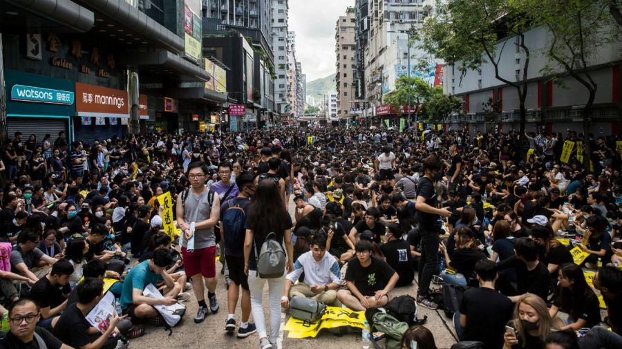 Se trata del primer paro general de Hong Kong en cinco décadas.