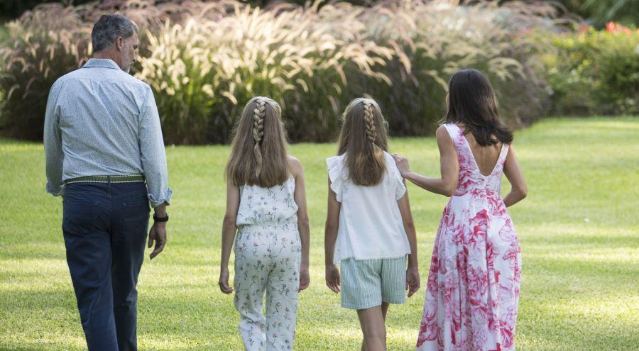 La familia real en Palma disfrutando de sus vacaciones