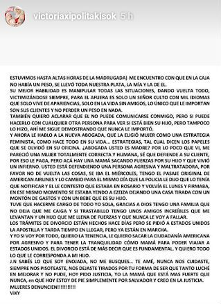 Dura carta de Vicky Xipolitakis