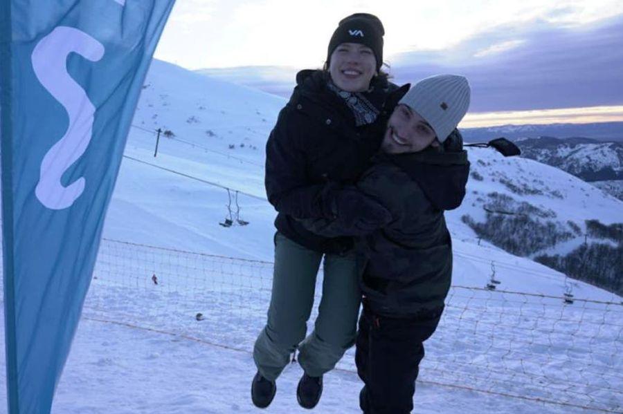 En medio de rumores de Romance, la pareja se fue a Bariloche
