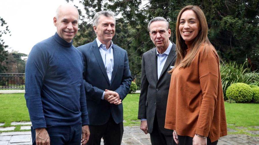 Mauricio Macri almorzó con Pichetto, Vidal y Rodriguez Larreta, en la la quinta de Olivos.