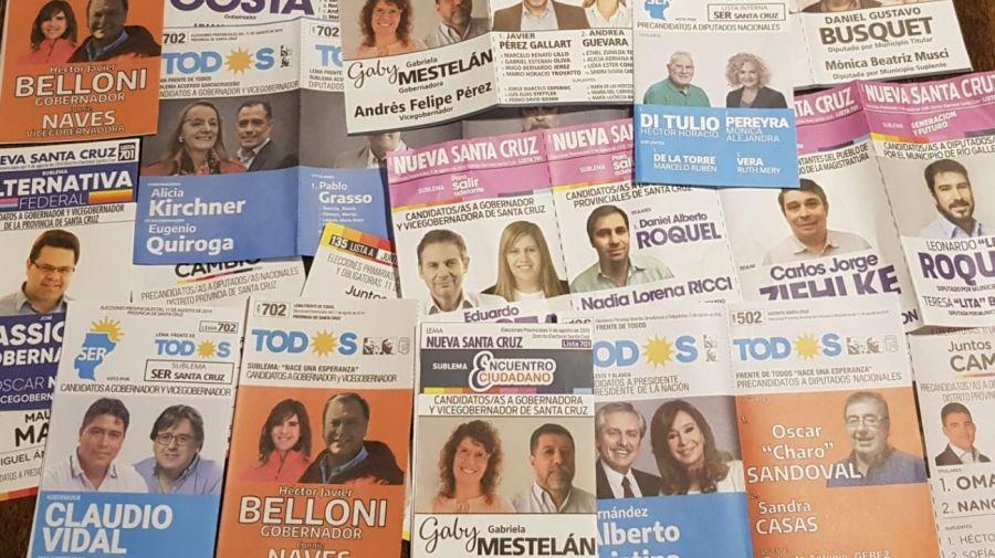 Boletas partidarias de papel de las PASO 2019. El proyecto propone eliminarlas en favor de la boleta única.