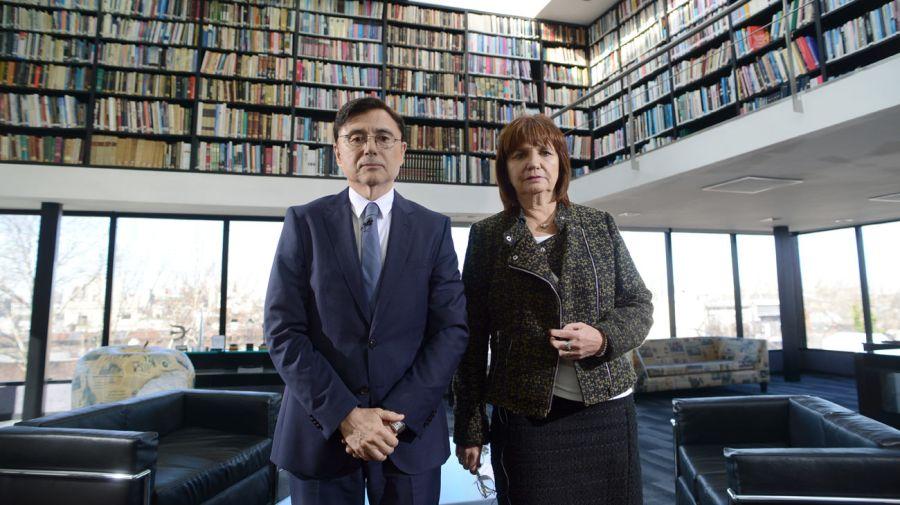 Patricia Bullrich, en la entrevista con Jorge Fontevecchia.