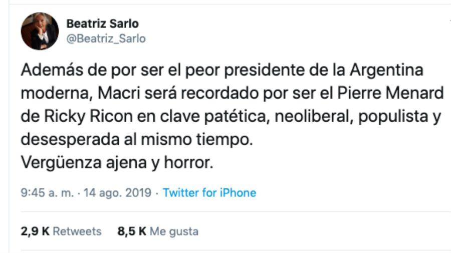 tweet sarlo 180082019