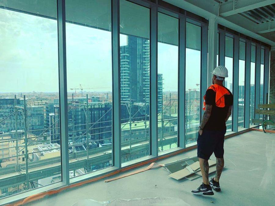 Mauro Icardi mostró la lujosa casa que se están construyendo con Wanda en Milán