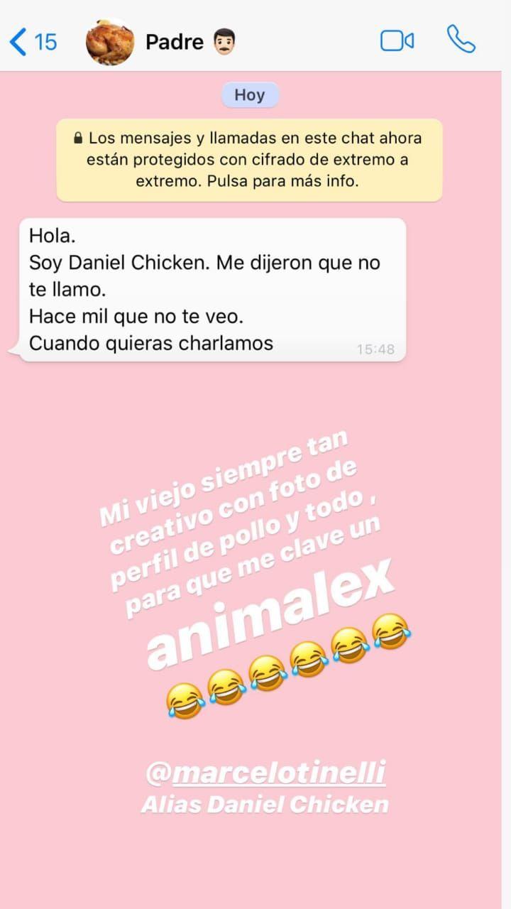 El divertido mensaje de Marcelo Tinelli a su hija Cande para que coma carne