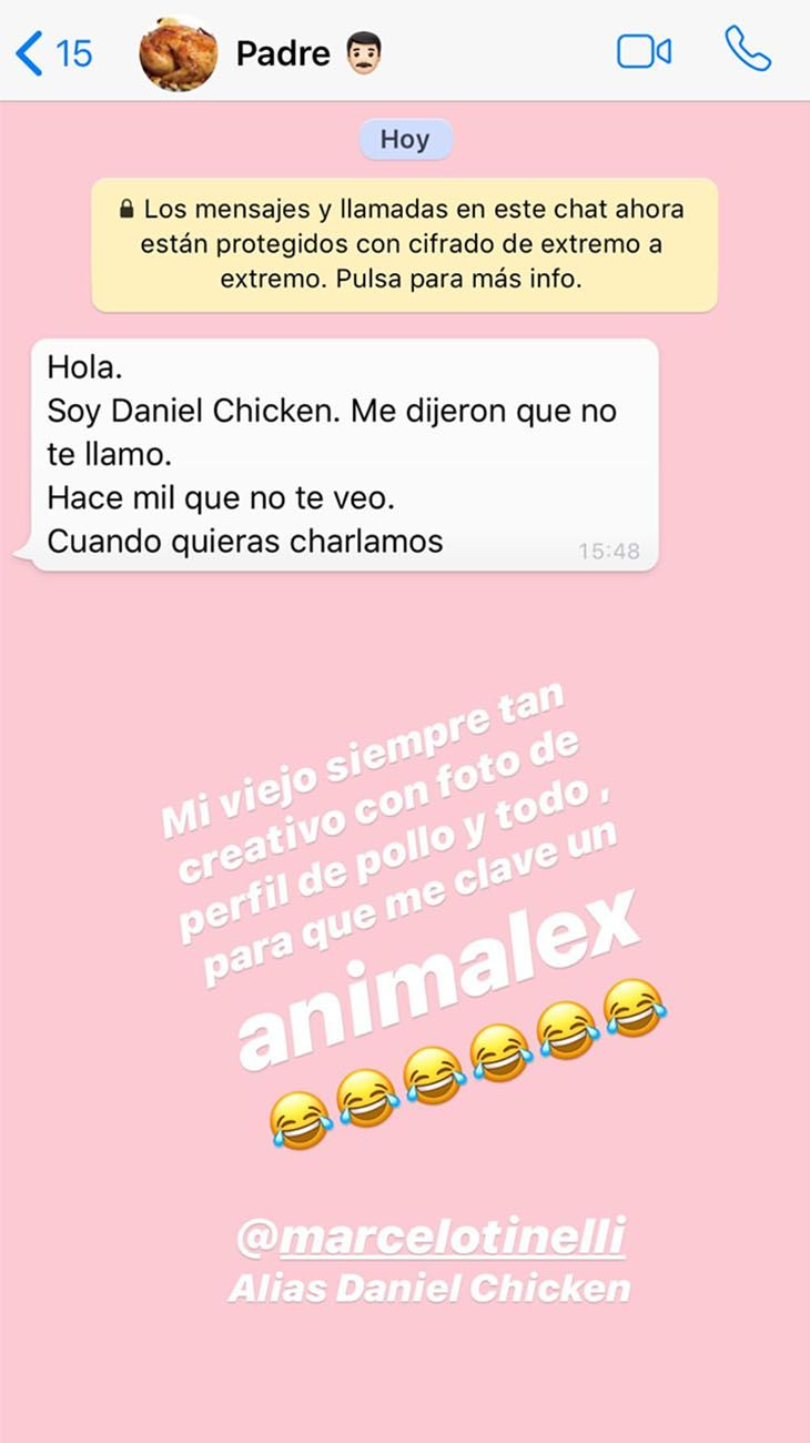 Mensaje de Marcelo a Cande Tinelli