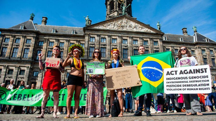 Incendio del Amazonas protestas embajadas de brasil jair bolsonaro