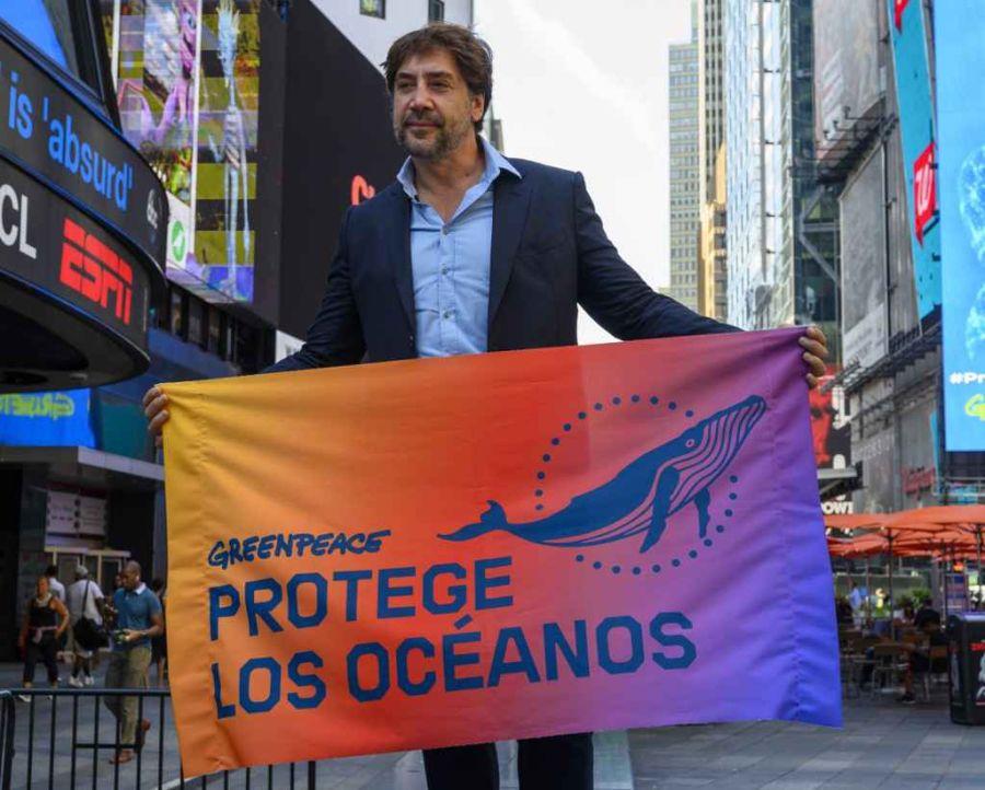 Javier Bardem intercede ante la ONU y se corona como activista de Greenpeace