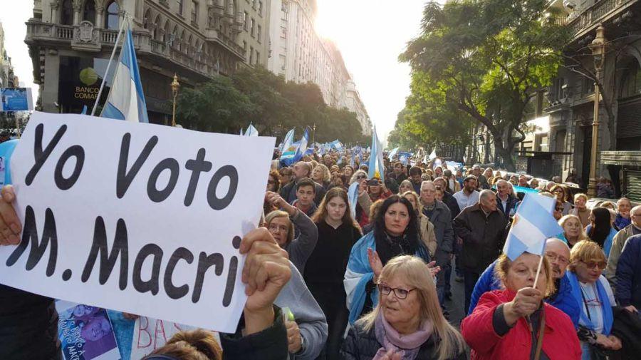 Marcha apoyo Mauricio Macri g1 24082019