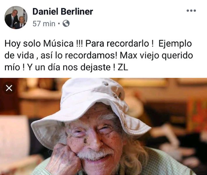 Dolor por la muerte del actor Max Berliner