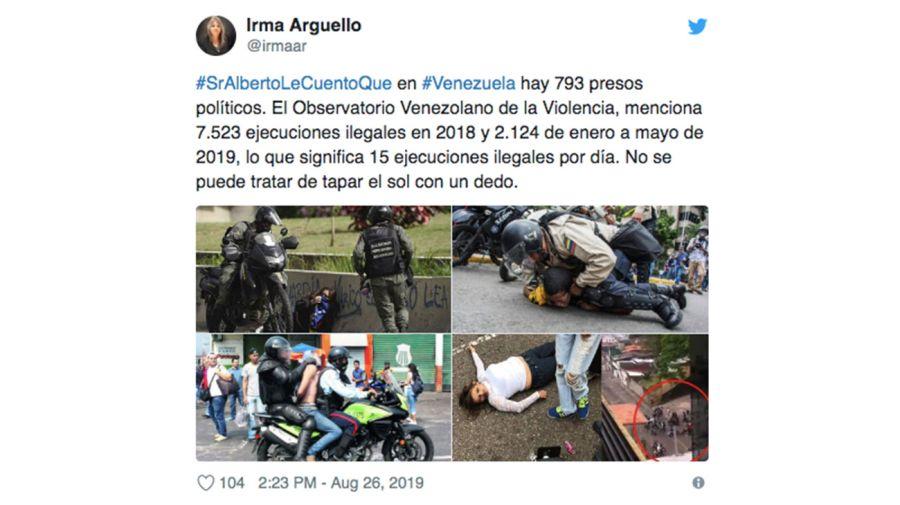 Venezuela Tweet